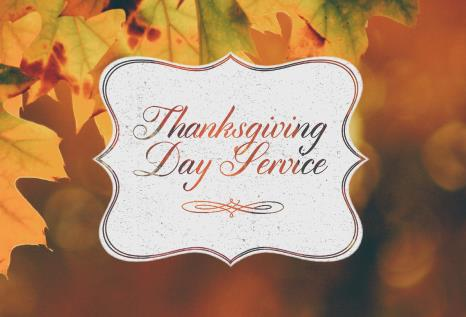 Thanksgiving Day Service Online Only